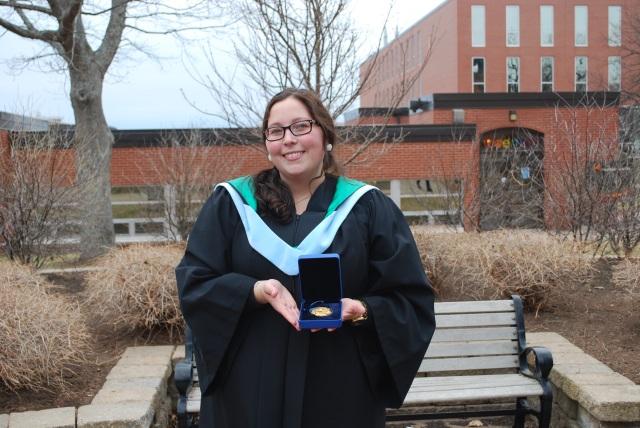 Governor General's Medal (Graduate) winner, Brittany Jakubiec (MEd, 2015)