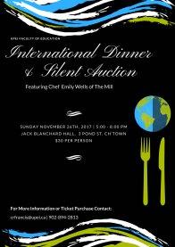 International Dinner 2017 Poster